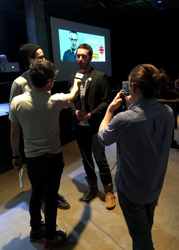 at La Sphère – Radio Canada (Matthieu Dugal)