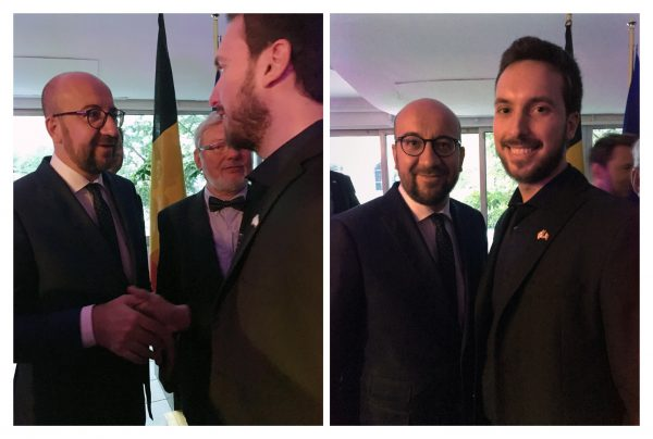 w/ Prime Minister of Belgium (Charles Michel)